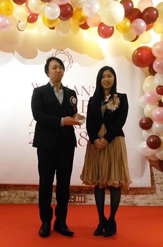 WOMAN's VALUE AWARDで優秀賞を受賞
